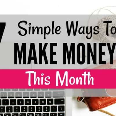 7 Simple Ways to Make Money From Home This Month - Are you looking to make money fast? These 7 money making tips and ideas will help you earn money working from home. Check out this post and find out how you could easily earn extra income every single month and from your home! Different legit online jobs and side hustles to make extra cash fast!