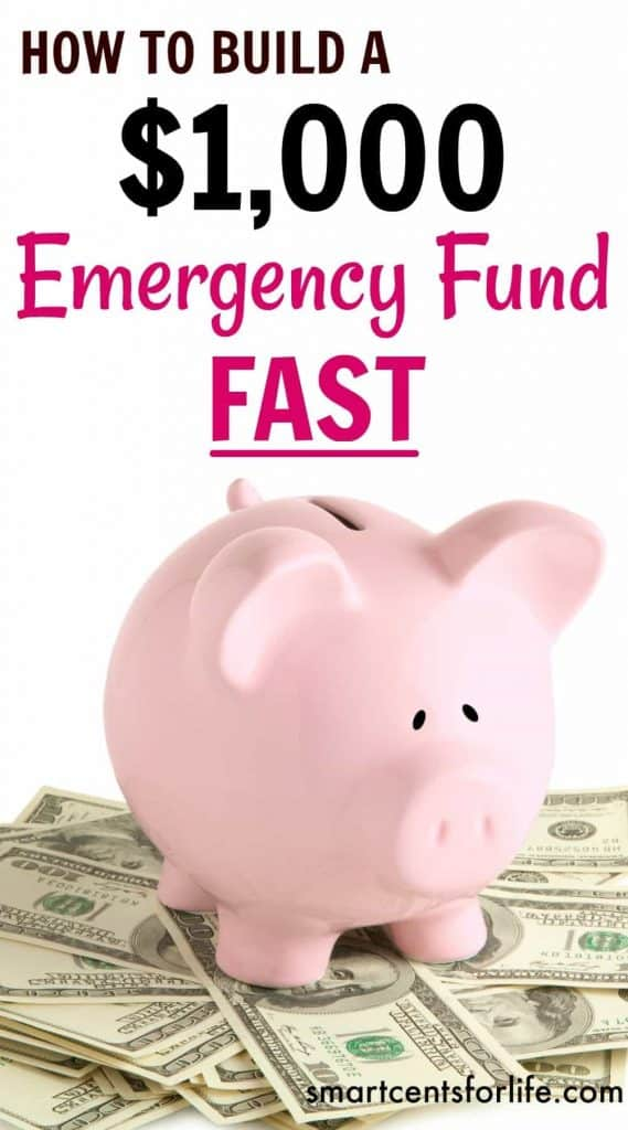 How to save $1000 emergency fund? Here are 10 easy ways that will teach you how much to save and how to do it! Find out how to build up an emergency fund savings plan for those unexpected expenses and avoid going into debt. Learn how to save $1000 emergency fund fast. #emergencyfund #gettingoutofdebt #debt
