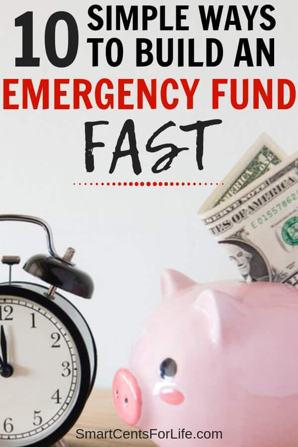 Want to know how to build an emergency fund? Check out these 10 saving money tips that you can use and start building your first $1000 emergency fund fast! Different ideas on personal finance, budget tips and frugal living that could help you pay off debt fast!