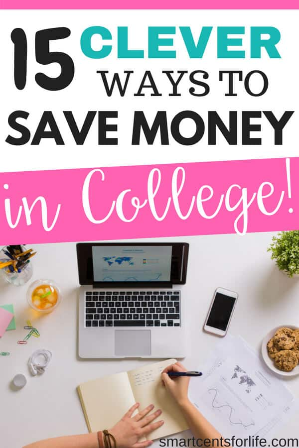 Learn how you can save money while in college! These 15 money saving tips will help you cut your costs and save tons of money during your college years! #moneysavingtips #savingmoney #debtfree #personalfinance