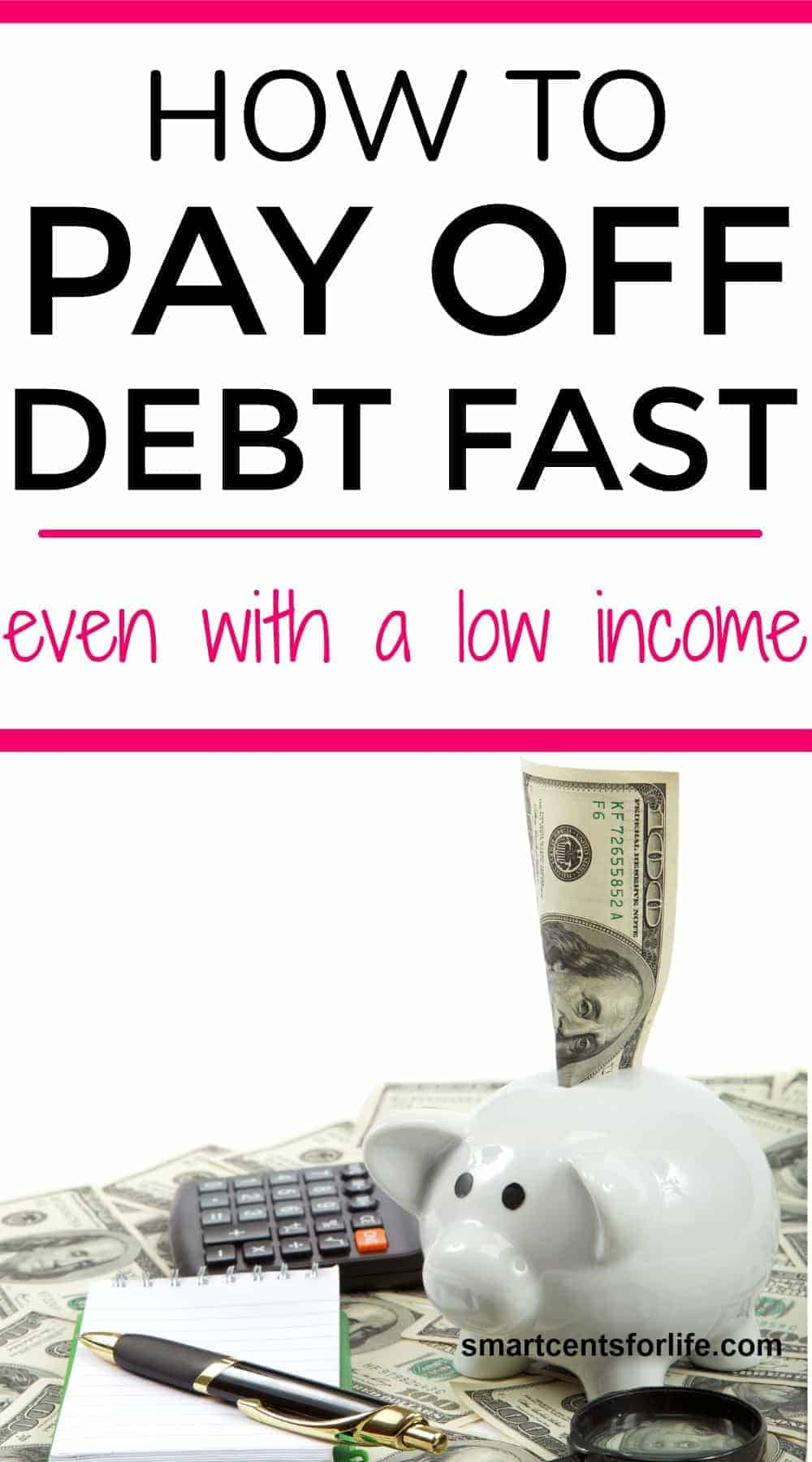 Learn these simple steps to pay off debt fast even with a low income. Yo could get out of debt quick with these tips on how to eliminate debt and reach financial freedom.