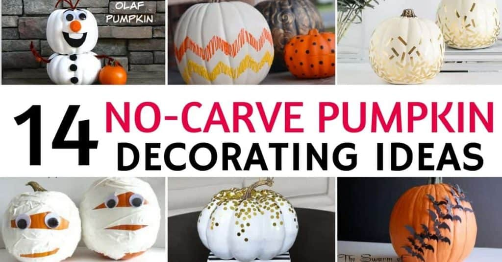 14 Easy DIY No-Carve Pumpkin Decorating Ideas