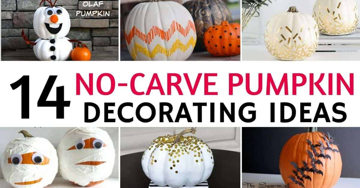 14 No Carve Pumpkin Decorating Ideas That Everyone Will Love