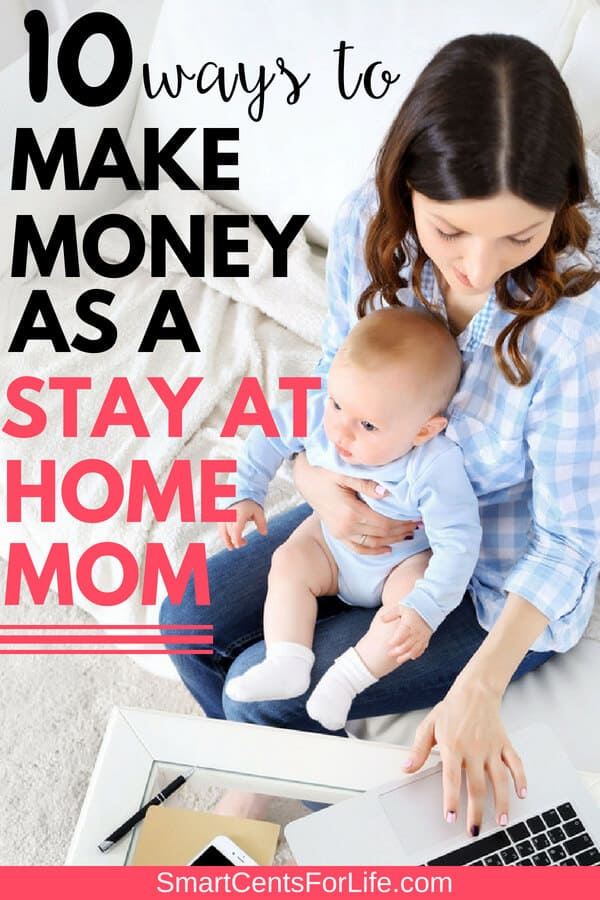 Do you want to know how to make money from home as a stay at home mom? Check out these 10 ways to make extra income working from home! Different side jobs and business ideas to make extra money working full-time or part-time from home!