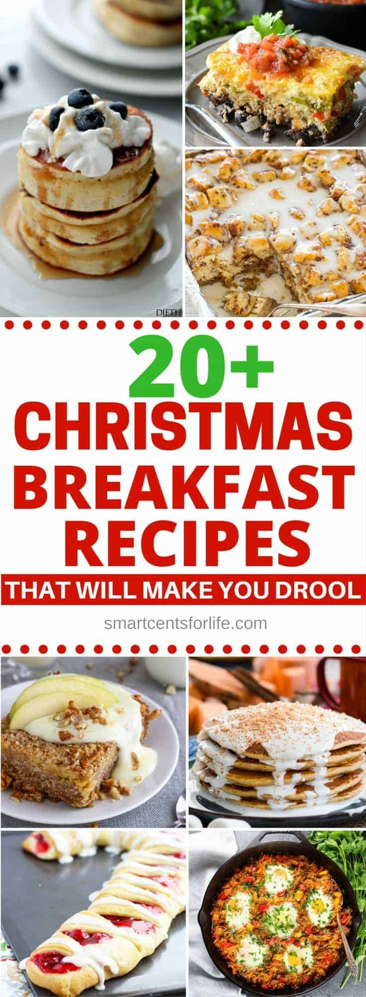 20+ Christmas breakfast recipes to enjoy these Holidays! These recipes are easy to make and they will please everyone including the kids! Whether you are looking for some Christmas breakfast ideas for Christmas morning, Christmas Eve or any other day, there are plenty of amazing Christmas breakfast and brunch ideas to choose from! #Christmasday #Christmasbreakfastideas #Christmasbreakfastrecipes