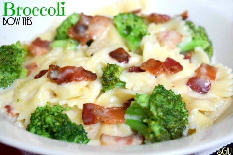 broccoli bow tie pasta