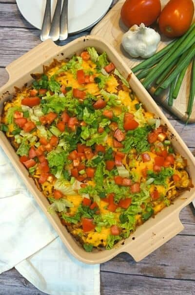 easy turkey taco casserole
