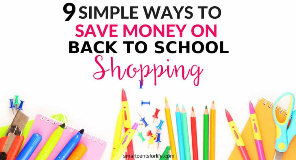 Looking to save money on back to school supplies?Find out how you can reduce your cost and save money on your back to school shopping this year. Save money on clothes, school items and more with these smart money-saving hacks. How to save money on back to school supplies, money saving tips, frugal living, budgeting, finance.