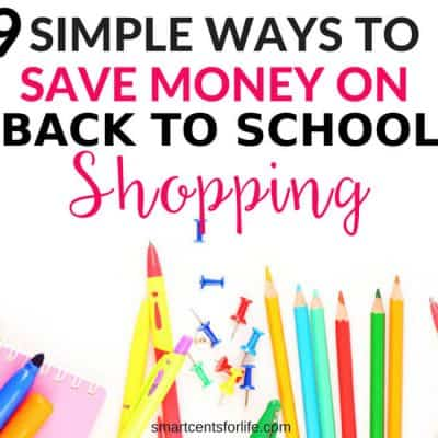 Looking to save money on back to school supplies? Find out how you can reduce your cost and save money on your back to school shopping this year. Save money on clothes, school items and more with these smart money-saving hacks. How to save money on back to school supplies, money saving tips, frugal living, budgeting, finance.