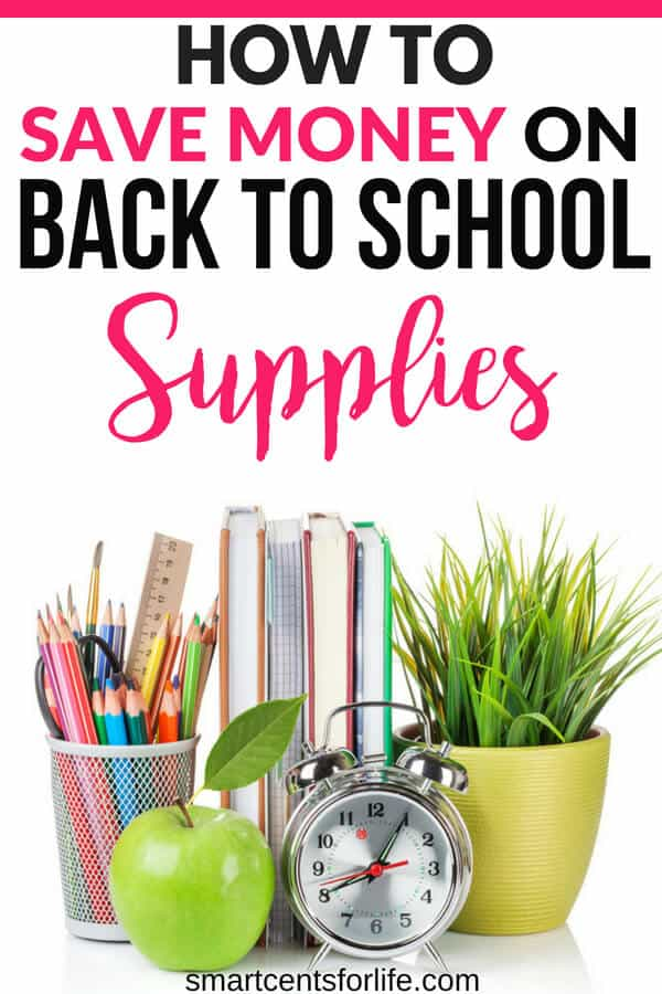 Looking to save money on back to school supplies? Find out how you can reduce your cost and save money on your back to school shopping this year. Save money on clothes, school items and more with these smart money-saving hacks. How to save money on back to school supplies, money saving tips, frugal living, budgeting, finance