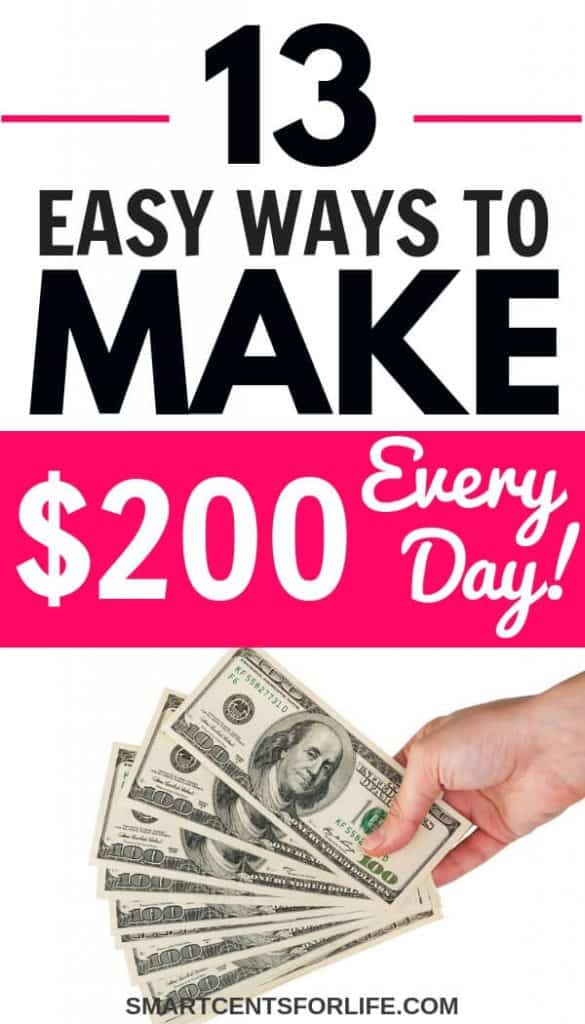 How to make 200 dollars in one day! Check out this must-know list and learn how to make 200 a day easily. If all you are wondering is: I need 200 dollars asap then this list of smart and creative ideas to make money fast could help you with that!
