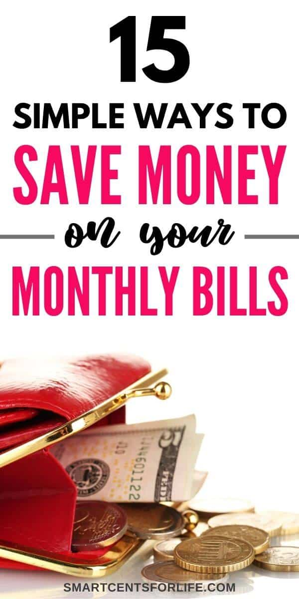 How to save money on your monthly bills