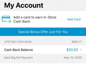 Rakuten Cash Back Balance
