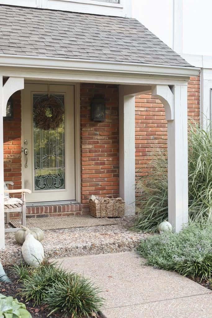 Natural tones fall porch decor