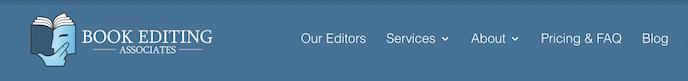 Book Editing Associates Screenshot