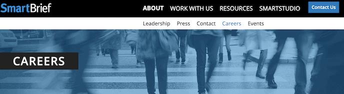 SmartBriefs screenshot for jobs for proofreaders