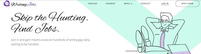 WritingJobz screenshot for online proofreading jobs